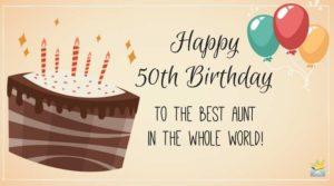 Happy 50th Birthday Wishing You A Wonderful Celebration And An Amazing Year