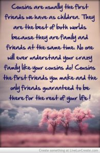 Top 65 Awesome Cousin Quotes And Sayings With Images